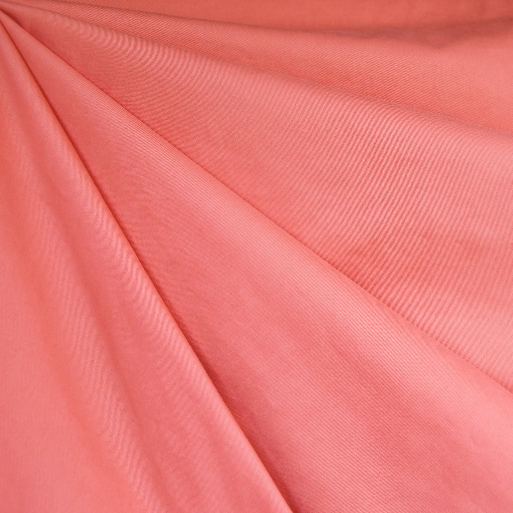 Cotton Twill Solid Coral - Sold Out - Style Maker Fabrics