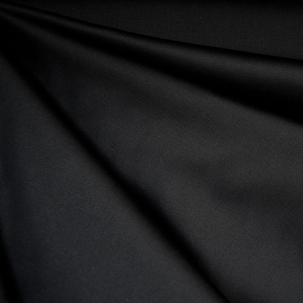 Stretch Sateen Solid Black SY - Sold Out - Style Maker Fabrics