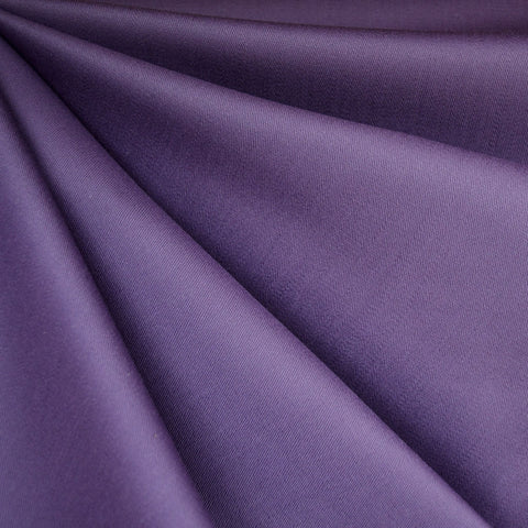 Stretch Cotton Twill Solid Purple