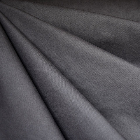 Cotton Twill Solid Charcoal