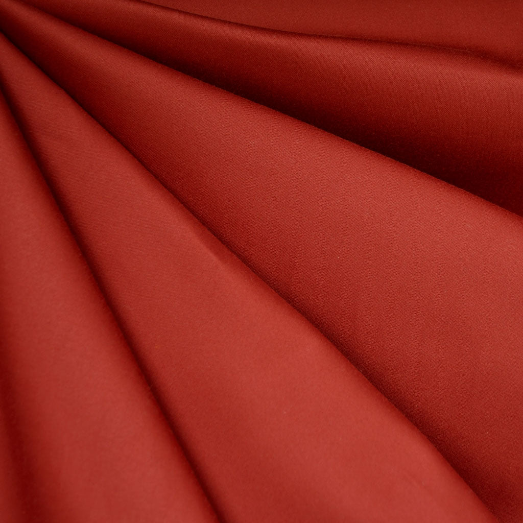 Stretch Sateen Solid Tomato - Sold Out - Style Maker Fabrics