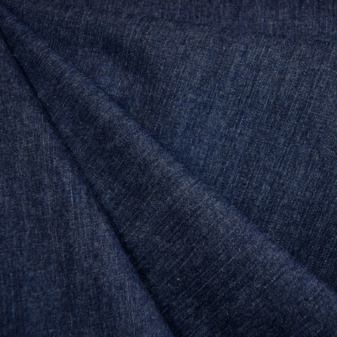 Brushed Stretch Denim Deep Blue