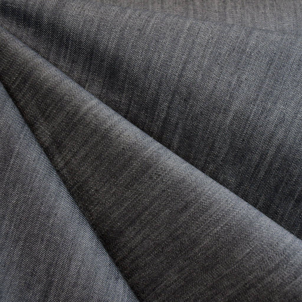 Washed Stretch Slub Denim Grey SY - Selvage Yard - Style Maker Fabrics