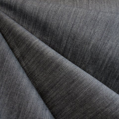 Washed Mid Weight Stretch Slub Denim Grey - Sold Out - Style Maker Fabrics
