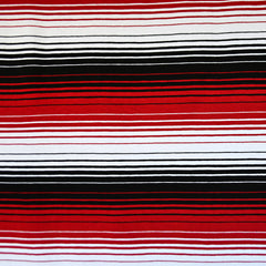 Variegated Stripe Jersey Knit Red/Black SY - Sold Out - Style Maker Fabrics