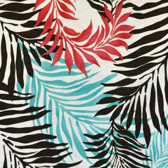 Tropical Foliage Jersey Knit Aqua/Coral SY - Sold Out - Style Maker Fabrics