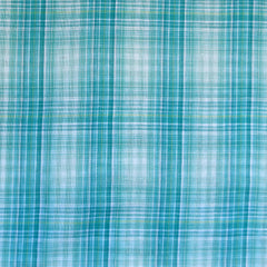 Plaid and Check Double Cloth Turquoise SY - Sold Out - Style Maker Fabrics