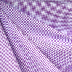 Tiny Gingham Seersucker Shirting Lavender - Sold Out - Style Maker Fabrics