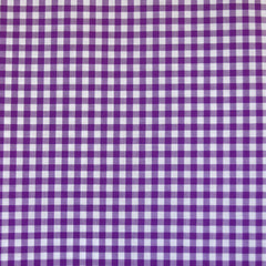 Classic Gingham Cotton Shirting Plum SY - Selvage Yard - Style Maker Fabrics