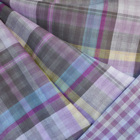Plaid and Check Double Cloth Lavender SY