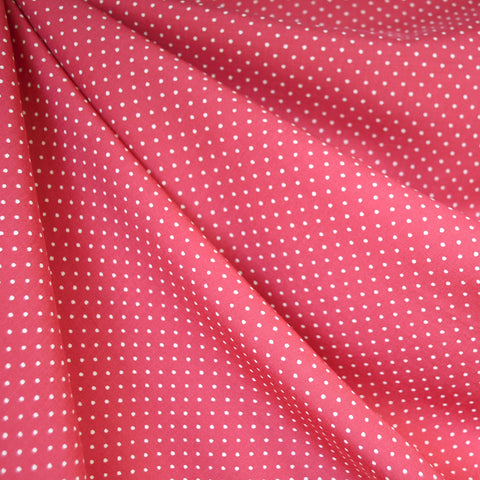 Tiny Dot Rayon Challis Pink/White