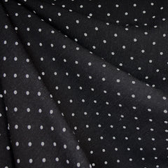 Rayon Crepe Polka Dot Black/Cream - Fabric - Style Maker Fabrics