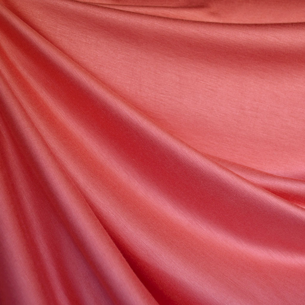 Designer Rayon Jersey Knit Solid Coral - Fabric - Style Maker Fabrics