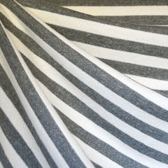 Thick Cozy French Terry Stripe Grey/Cream - Fabric - Style Maker Fabrics