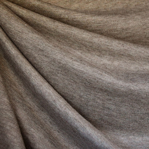 Soft French Terry Heather Taupe