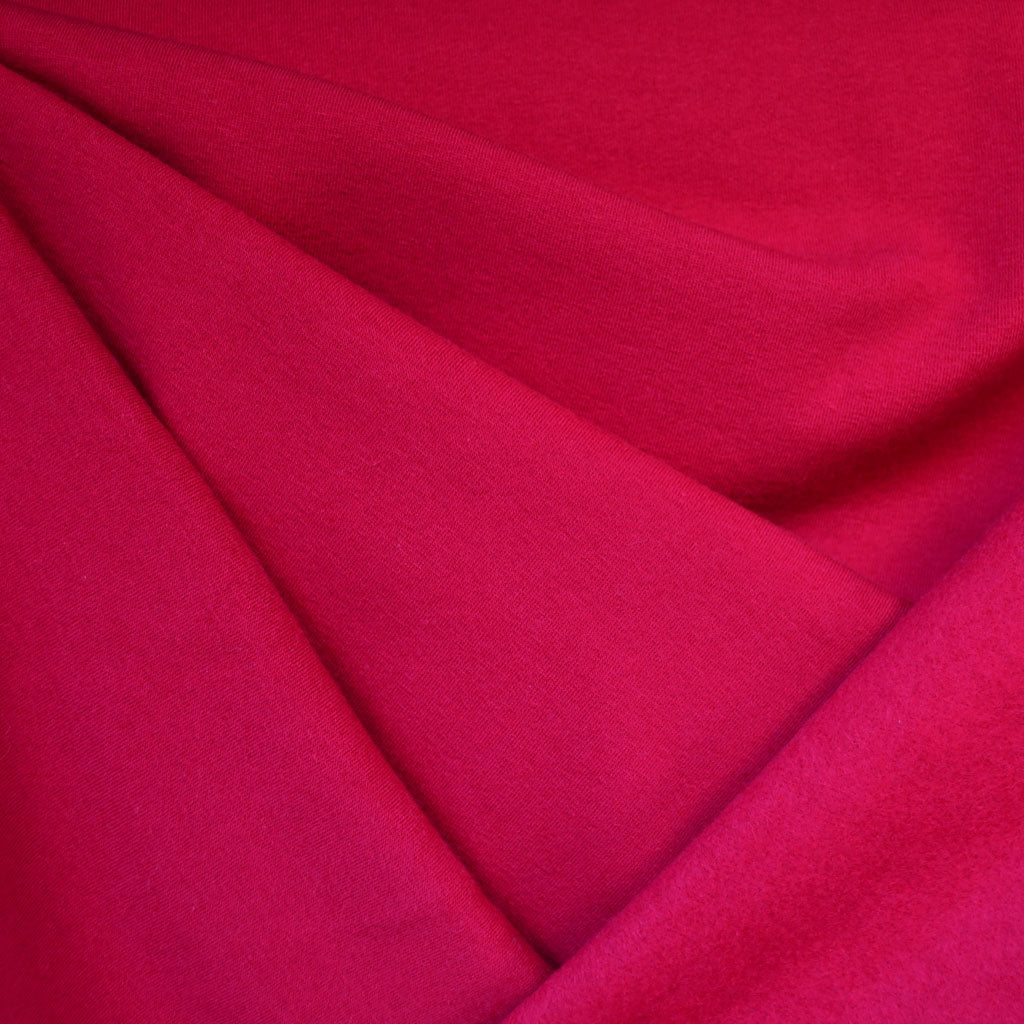 Sweatshirt Fleece Solid Cherry SY - Sold Out - Style Maker Fabrics