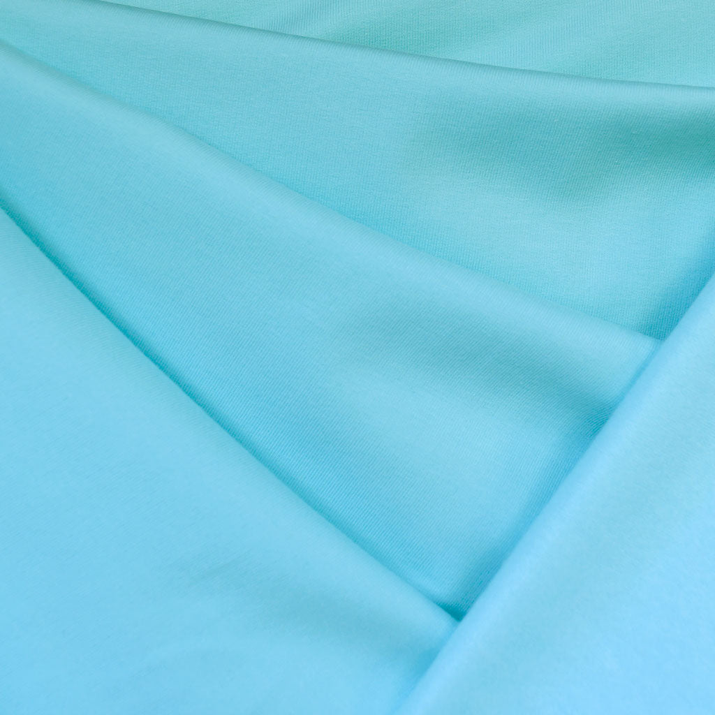 Sweatshirt Fleece Solid Aqua - Sold Out - Style Maker Fabrics