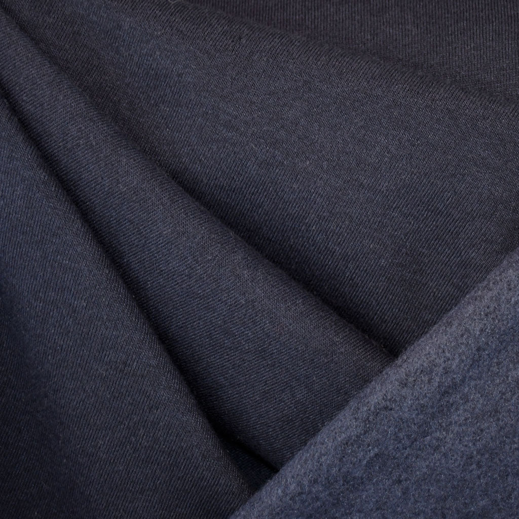 Sweatshirt Fleece Solid Deep Navy - Sold Out - Style Maker Fabrics