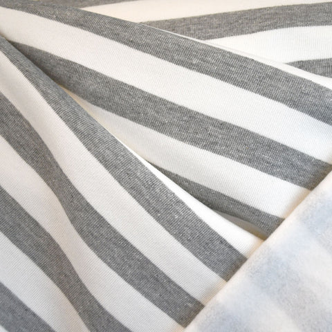 Stripe Sweatshirt Fleece Grey/Vanilla