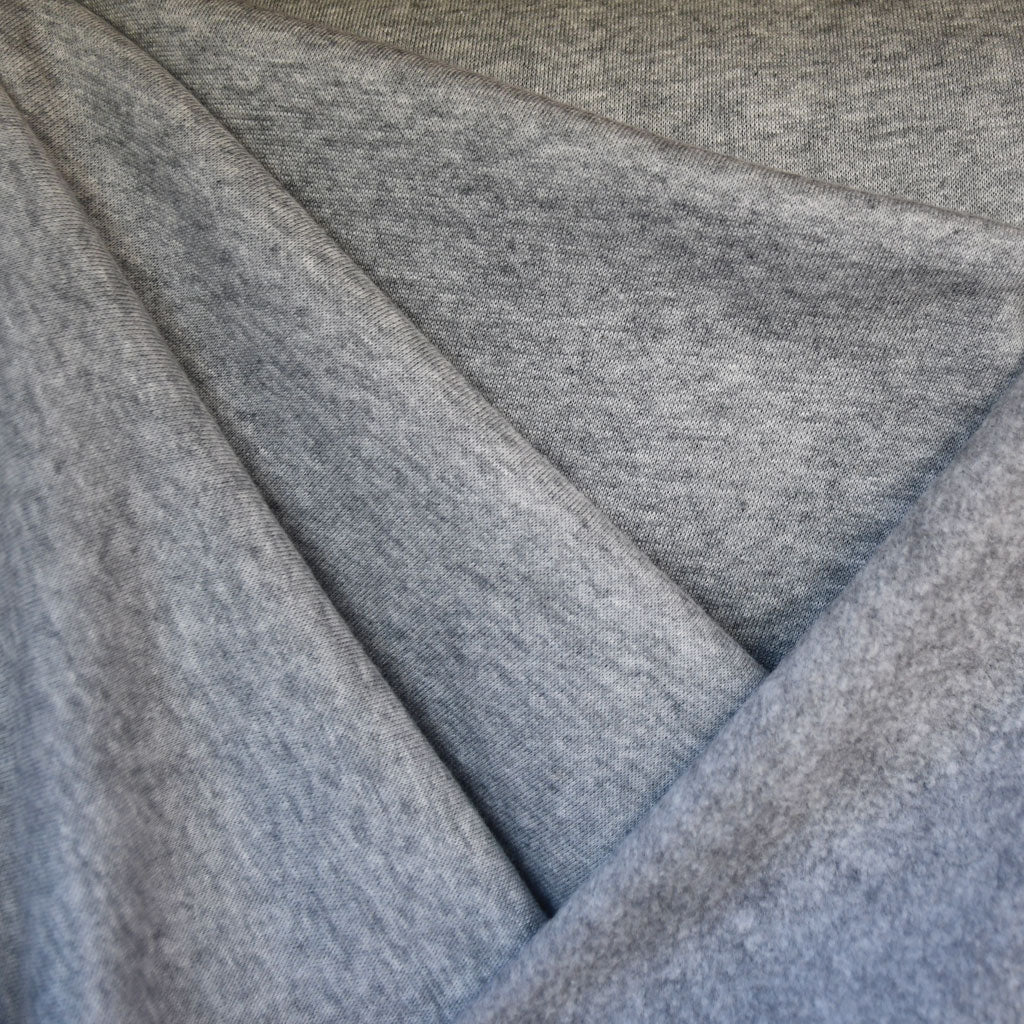 Modal Sweatshirt Fleece Heather Grey - Fabric - Style Maker Fabrics