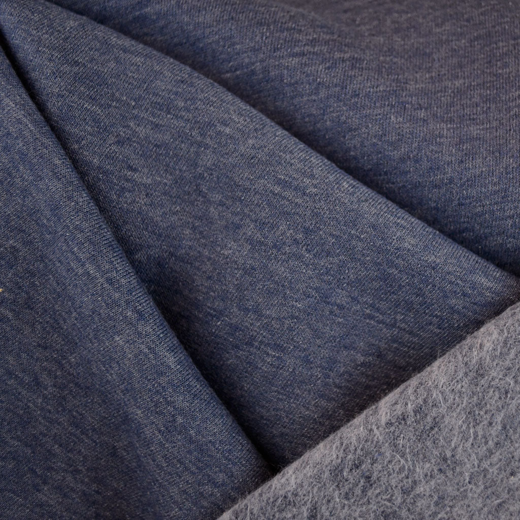 Sweatshirt Fleece Heather Blue - Sold Out - Style Maker Fabrics