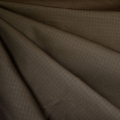 Grid Texture Cotton/Nylon Coating Chocolate - Fabric - Style Maker Fabrics