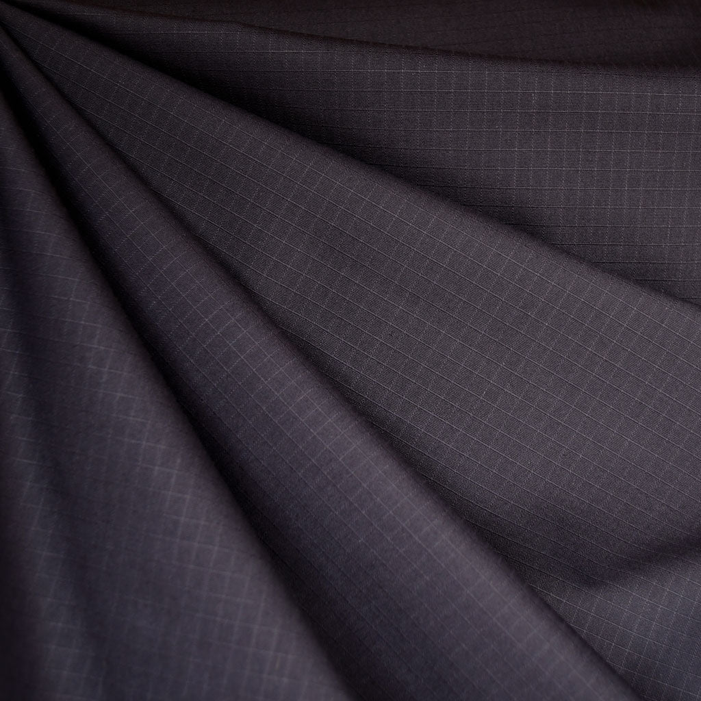 Grid Texture Cotton/Nylon Coating Deep Purple - Fabric - Style Maker Fabrics