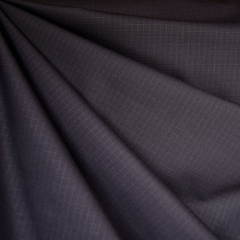 Grid Texture Cotton/Nylon Coating Deep Purple