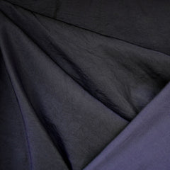Cross Weave Nylon Twill Coating Black/Purple - Sold Out - Style Maker Fabrics