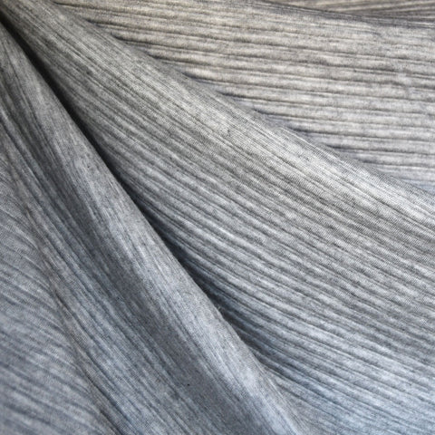 Stripe Texture Double Knit Heather Grey