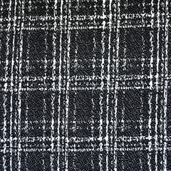 Textured Plaid Double Knit Black/White - Fabric - Style Maker Fabrics