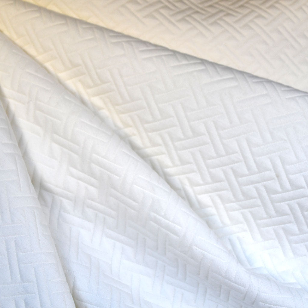 Basketweave Quilted Double Knit Cream - Sold Out - Style Maker Fabrics