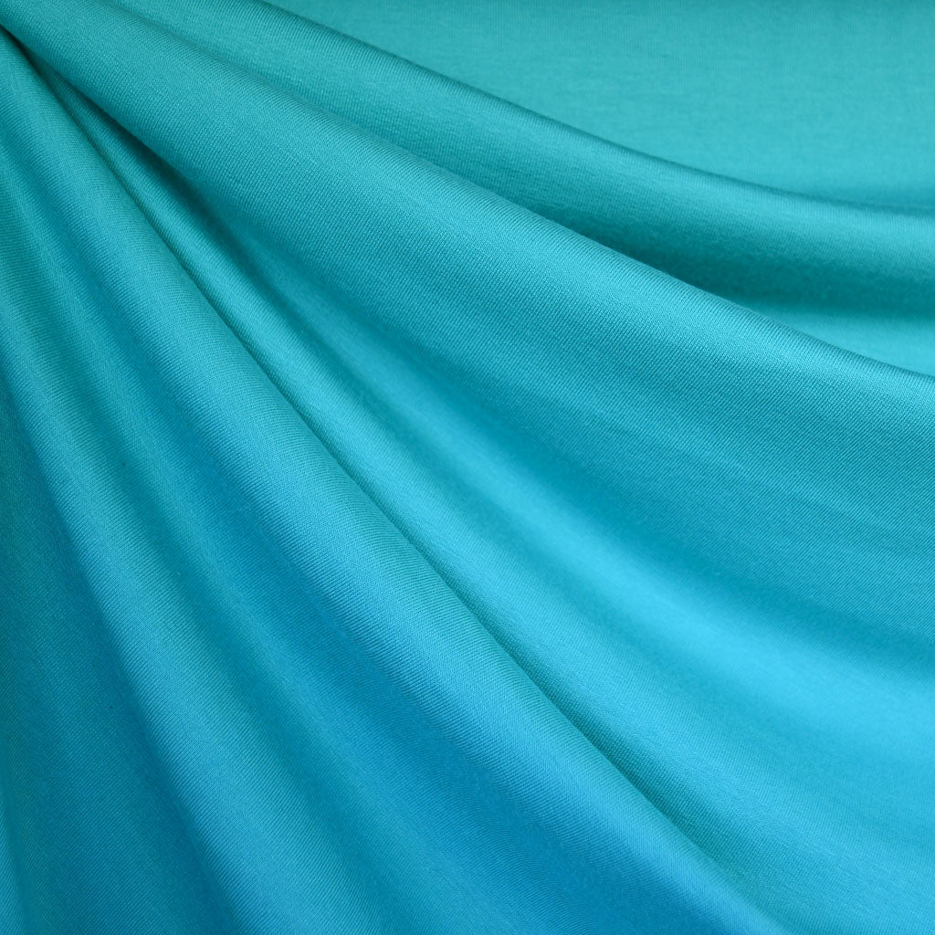 Bamboo Jersey French Terry Turquoise - Fabric - Style Maker Fabrics