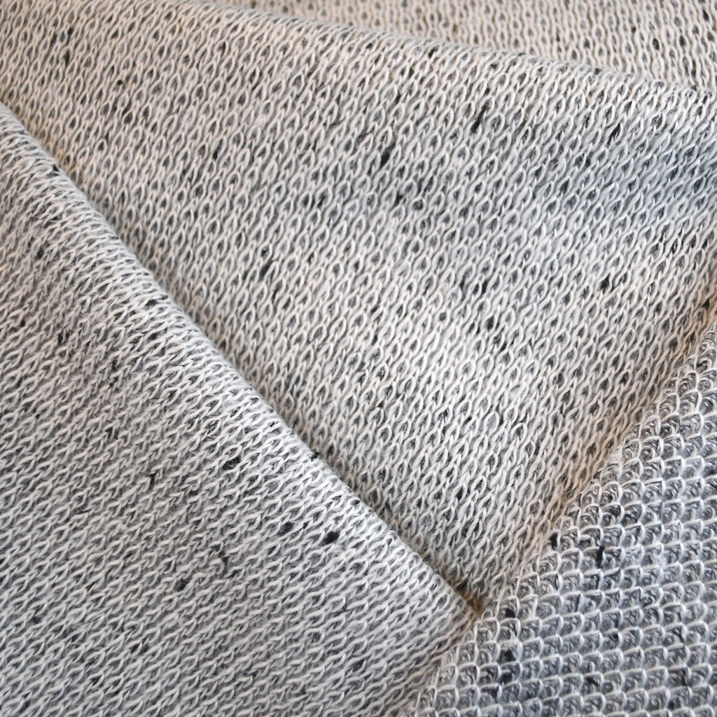 Speckle Double Sweater Knit Cream/Grey - Sold Out - Style Maker Fabrics