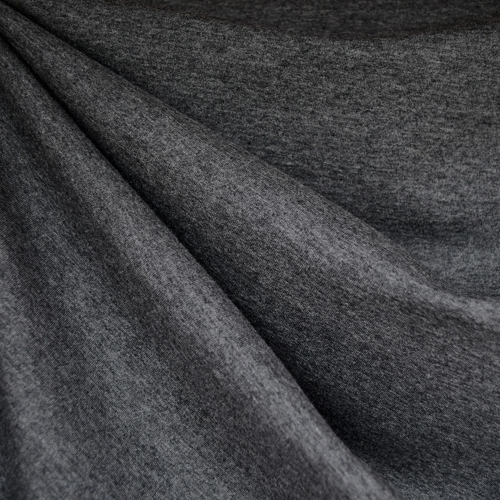Performance Jersey French Terry Charcoal - Fabric - Style Maker Fabrics