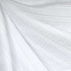 Textured Stripe Cotton Lawn White - Sold Out - Style Maker Fabrics