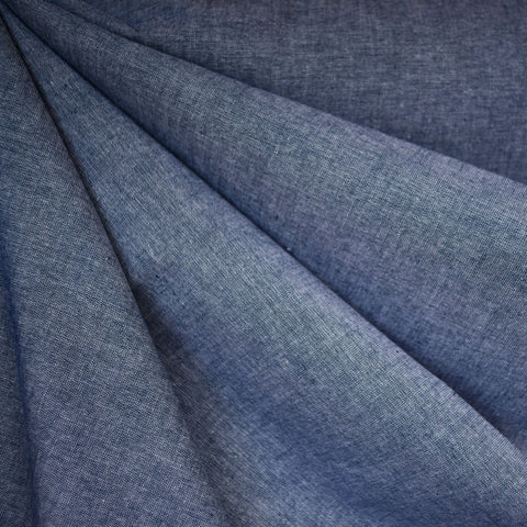 Cotton Chambray Shirting Indigo
