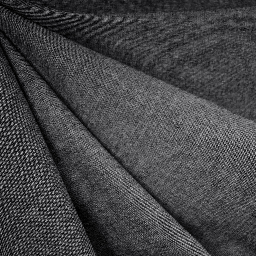 Cotton Chambray Shirting Charcoal - Fabric - Style Maker Fabrics