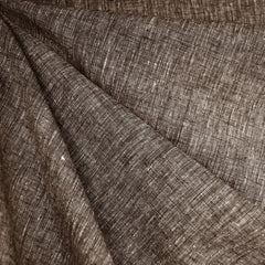 Cross Woven Linen Blend Shirting Chocolate - Fabric - Style Maker Fabrics