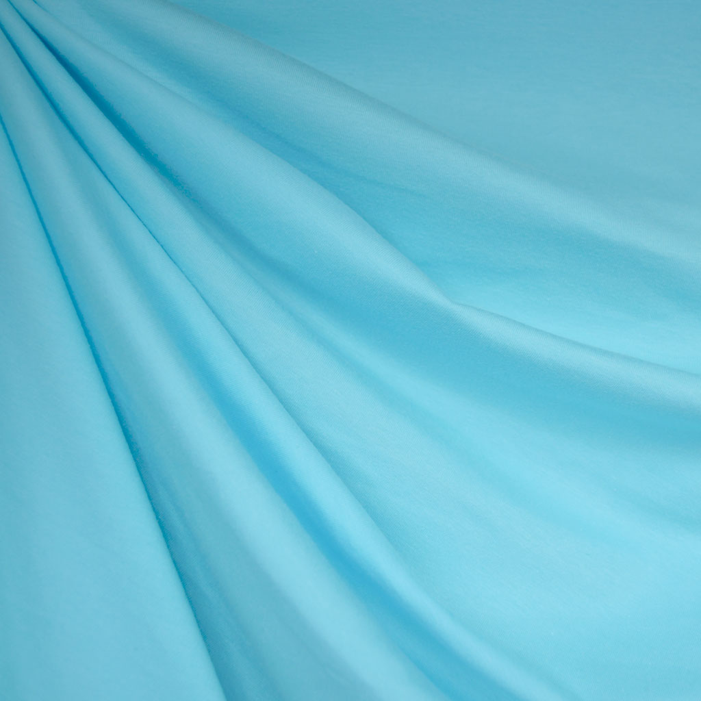 Cotton Jersey Knit Solid Aqua - Fabric - Style Maker Fabrics