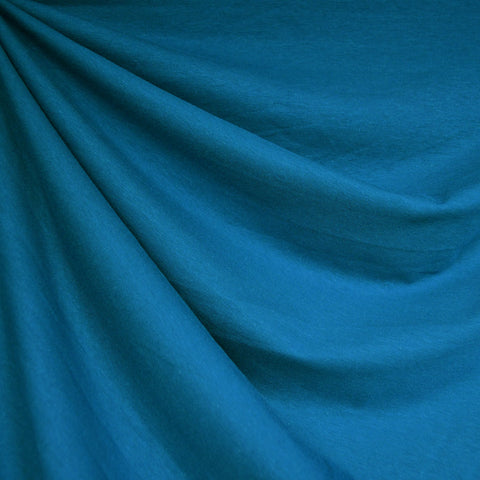 Cotton Jersey Knit Solid Teal