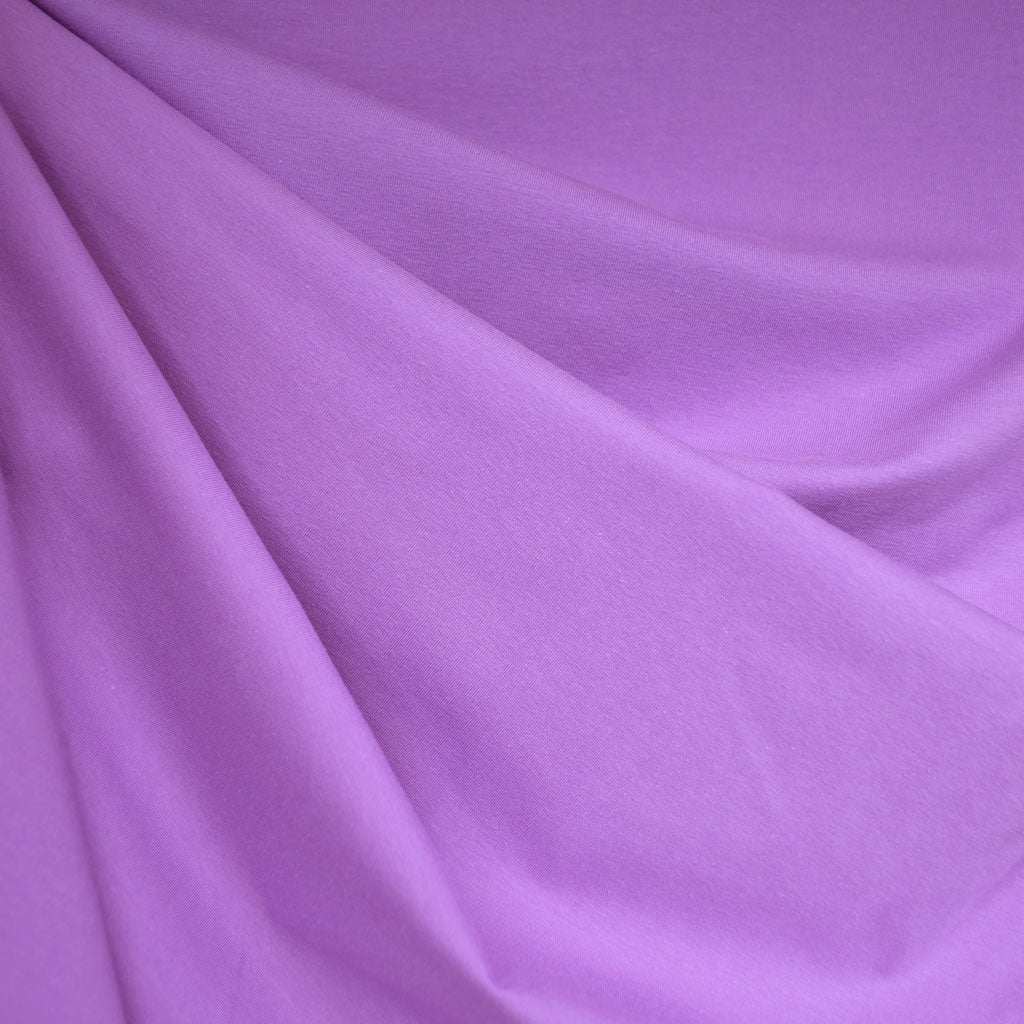 Designer Cotton Jersey Knit Solid Lavender - Fabric - Style Maker Fabrics