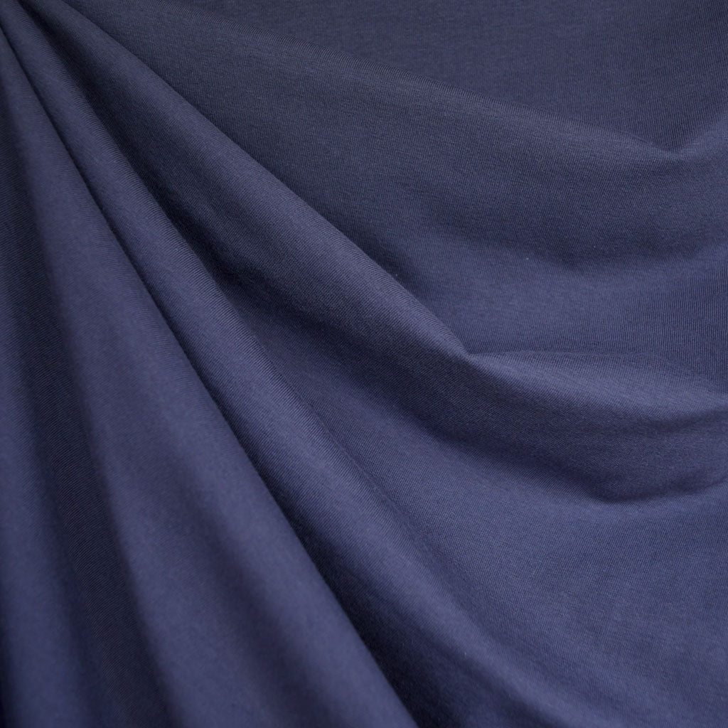 c2237eed8fc Designer Cotton Jersey Knit Solid Midnight - Sold Out - Style Maker Fabrics  ...