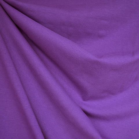 Designer Cotton Jersey Knit Solid Purple