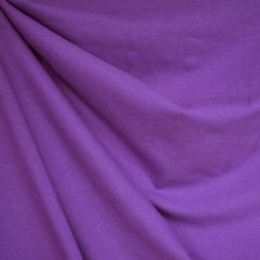 Designer Cotton Jersey Knit Solid Purple - Fabric - Style Maker Fabrics