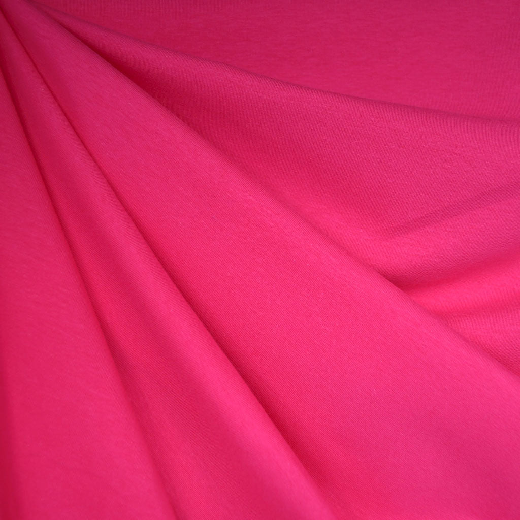 Cotton Jersey Knit Solid Fuchsia - Sold Out - Style Maker Fabrics