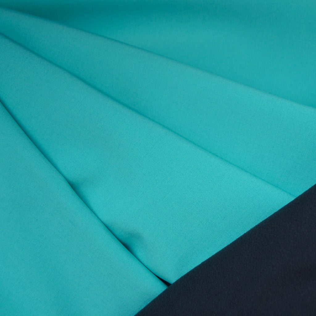 Soft Shell Coating Aqua/Charcoal - Sold Out - Style Maker Fabrics