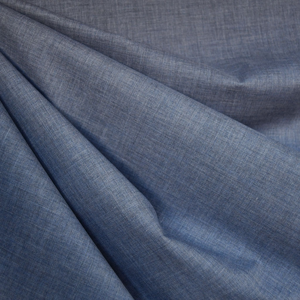 Yarn Dyed Melange Cotton Shirting Denim - Fabric - Style Maker Fabrics