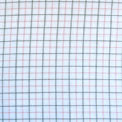 Grid Plaid Brushed Shirting Pink/Grey SY - Selvage Yard - Style Maker Fabrics