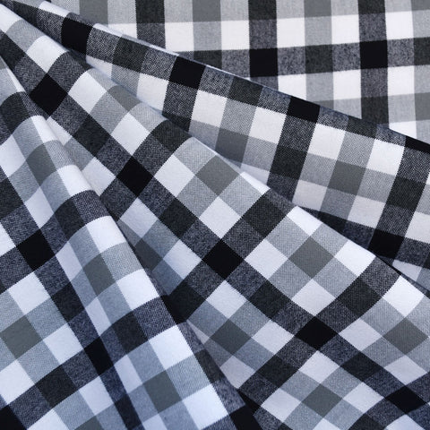 Check Plaid Brushed Shirting Grey/Black